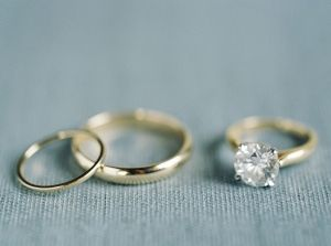 Soft Gold Engagement Ring And Wedding Ring Pippin Hill Wedding