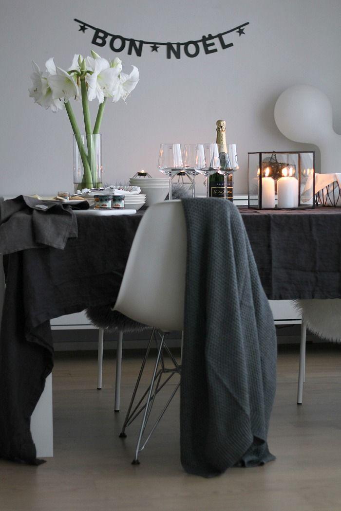 Table setting for Christmas / Grey /Scandinavian home