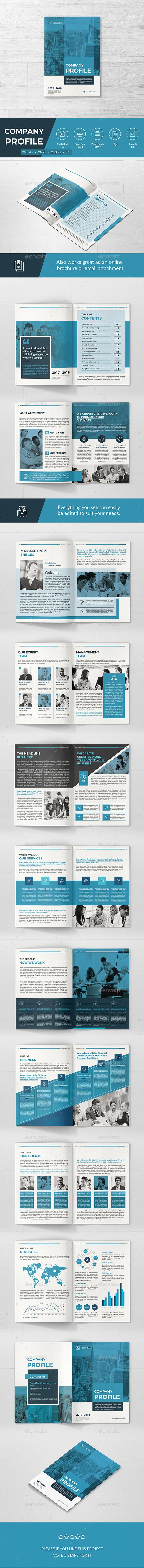 Company Profile — Photoshop PSD #book #red • Download ➝ https ...
