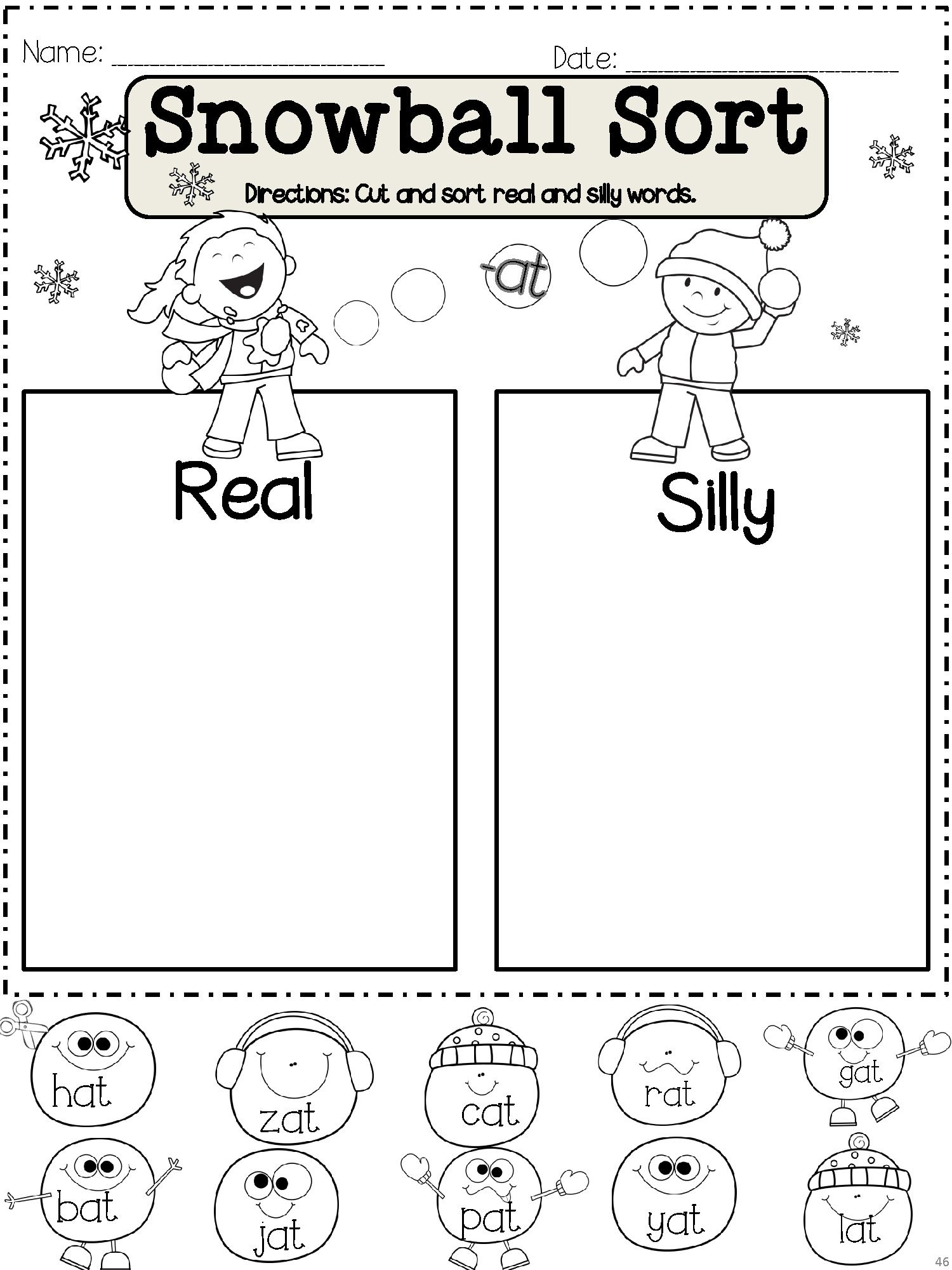 Winter Kindergarten Math And Word Fun