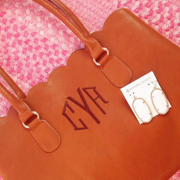 Friday Fours Marley Lilly Scalloped Tote Citrus And Style Blog
