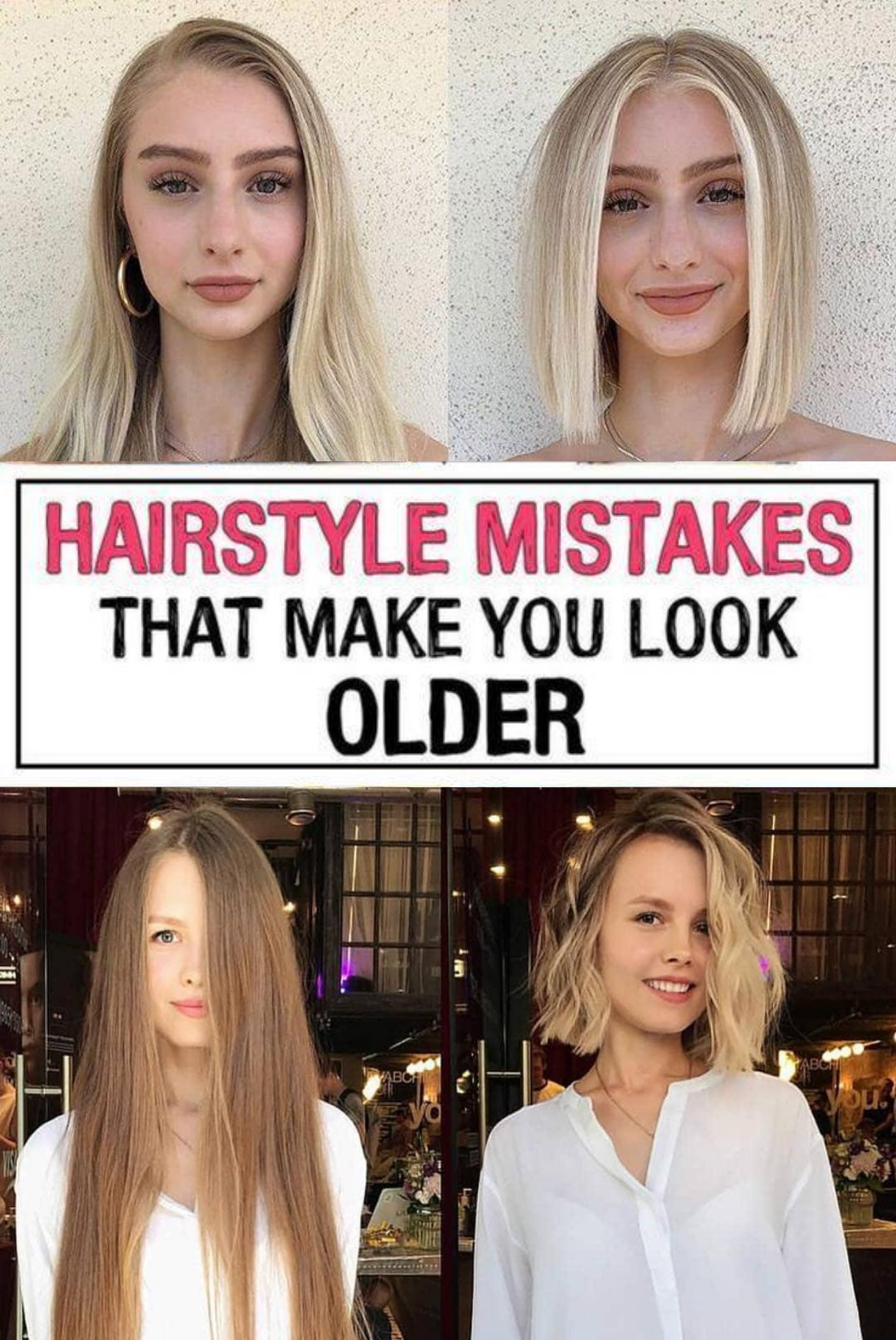 17 Hairstyle Mistakes That Are Aging You In 2020 Hairstyle Mom Hairstyles Hair Advice