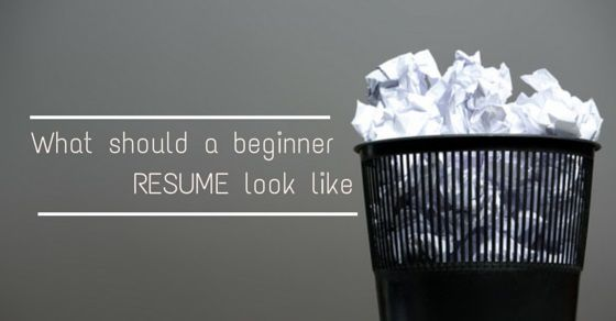 Most beginners fear that without prior job experience they won't get hired in any reputed company. But, the fact is that if you have a well written resume, then you can land up in your first job without much ado.
