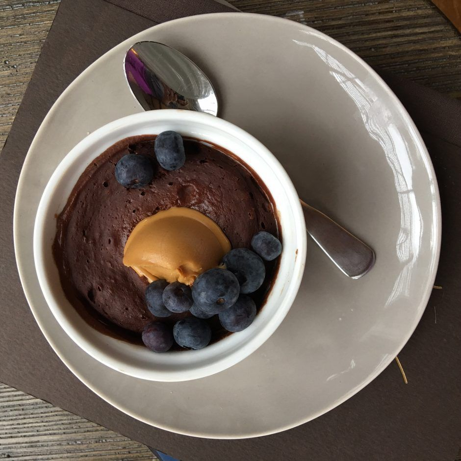 Healthy chocolate mug cake for one recipe with images