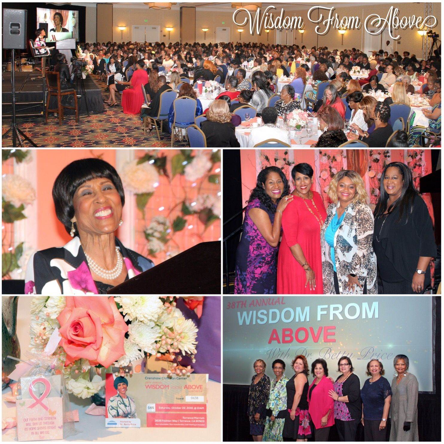 38th Annual Wisdom From Above Luncheon, at the Torrance Marriott. #wfa #wisdomfromabove #ladies #fellowship #drbetty #ccc #torrancemarriot #luncheon