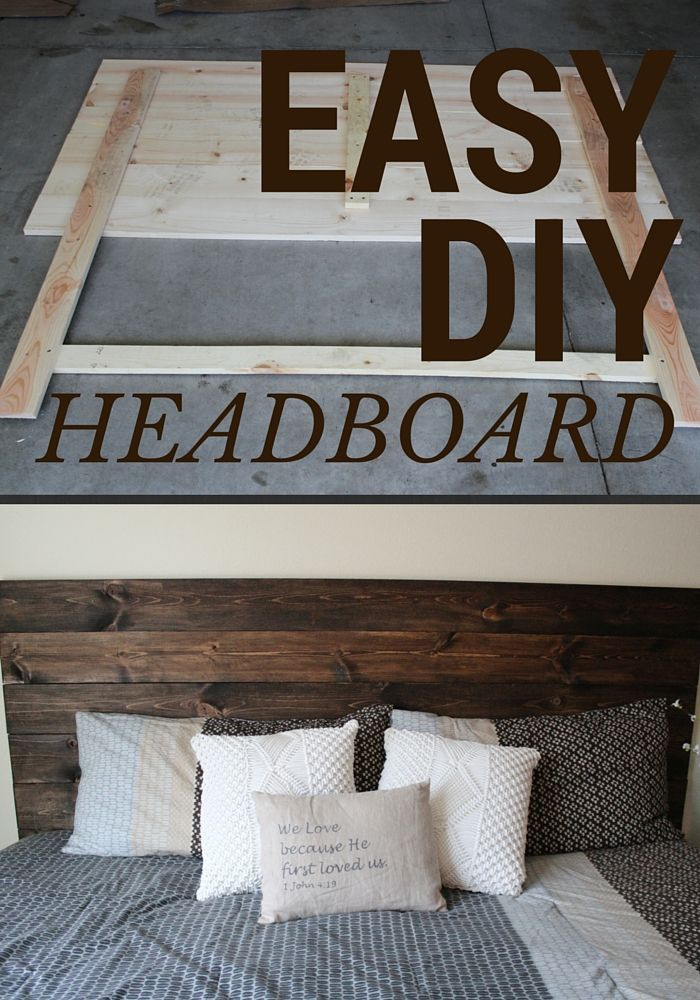 Easy Headboard That Anyone Can Do Wood Headboard Diy