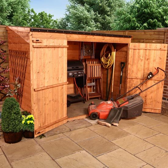 BillyOh Hyper Store Tongue and Groove Pent Garden Storage Unit Inc ...