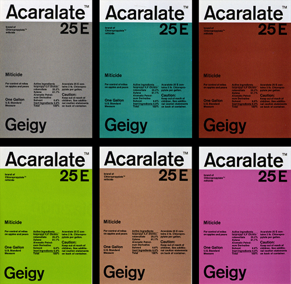 Geigy pharmaceutical package designs