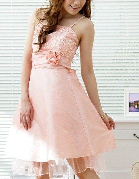 Damen Abendkleid rosa mit Spitze und Tüll Cocktailkleid ...