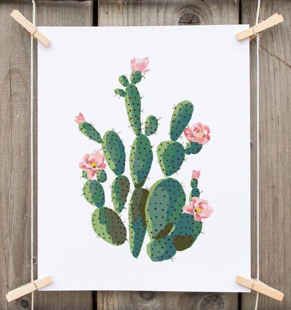 printable art Cactus art print cactus by PrintableLifeStyle