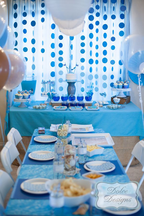 Under The Sea With Blue Straws And Cupcake Wrappers With Images