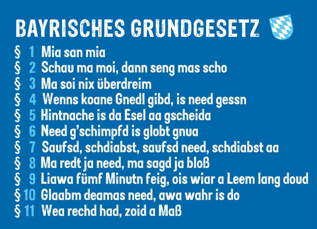 Magnet Grundgesetz Bayern Bayerische Spruche Bayrische Spruche