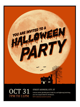 Let People Know About Your Halloween Event With This Great Looking