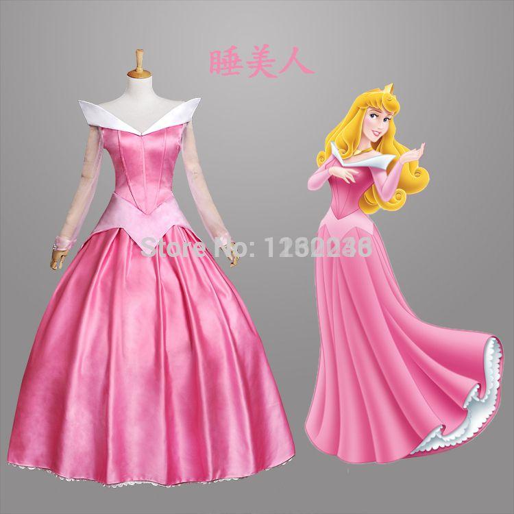 Free Shipping Customized Sleeping Beauty Aurora Princess Dress ...
