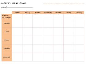 Rediscovering Our Family: Back to School: Meal Planning