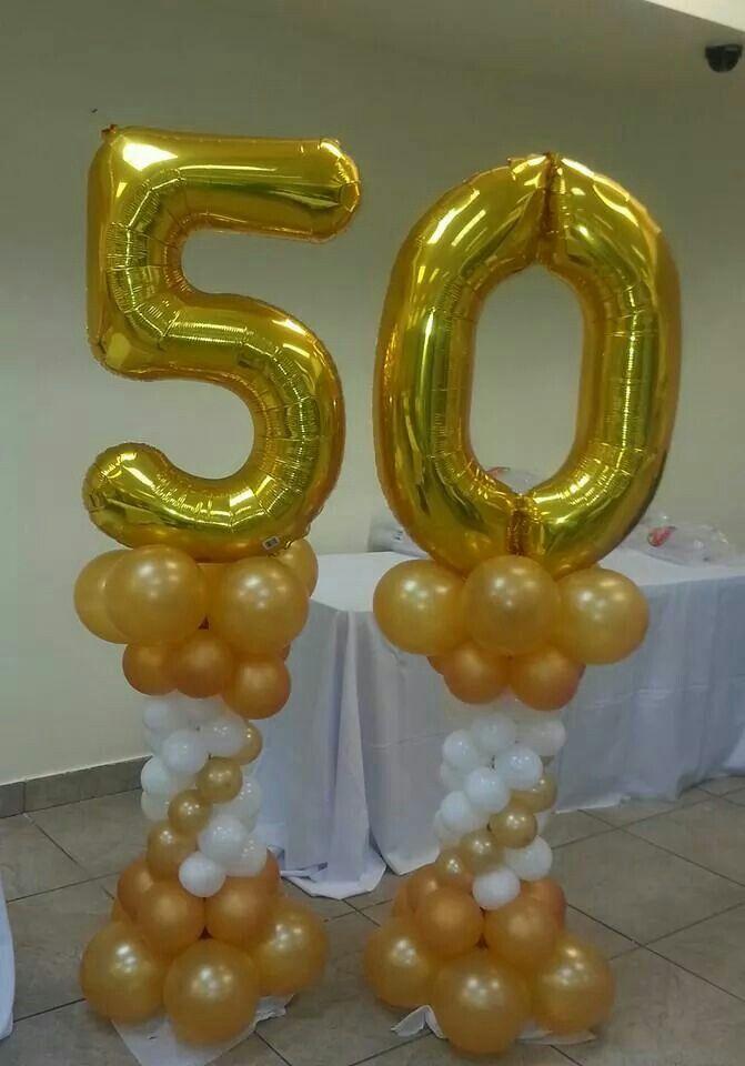 50 a os party arreglos para cumplea os pinterest - Decoracion con globos 50 anos ...