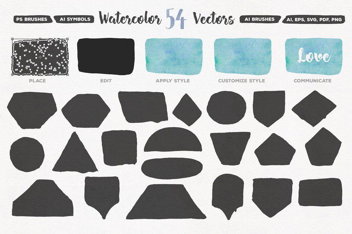 Aquaflow Watercolor Generator Illustrations Unleash Drawn Vector