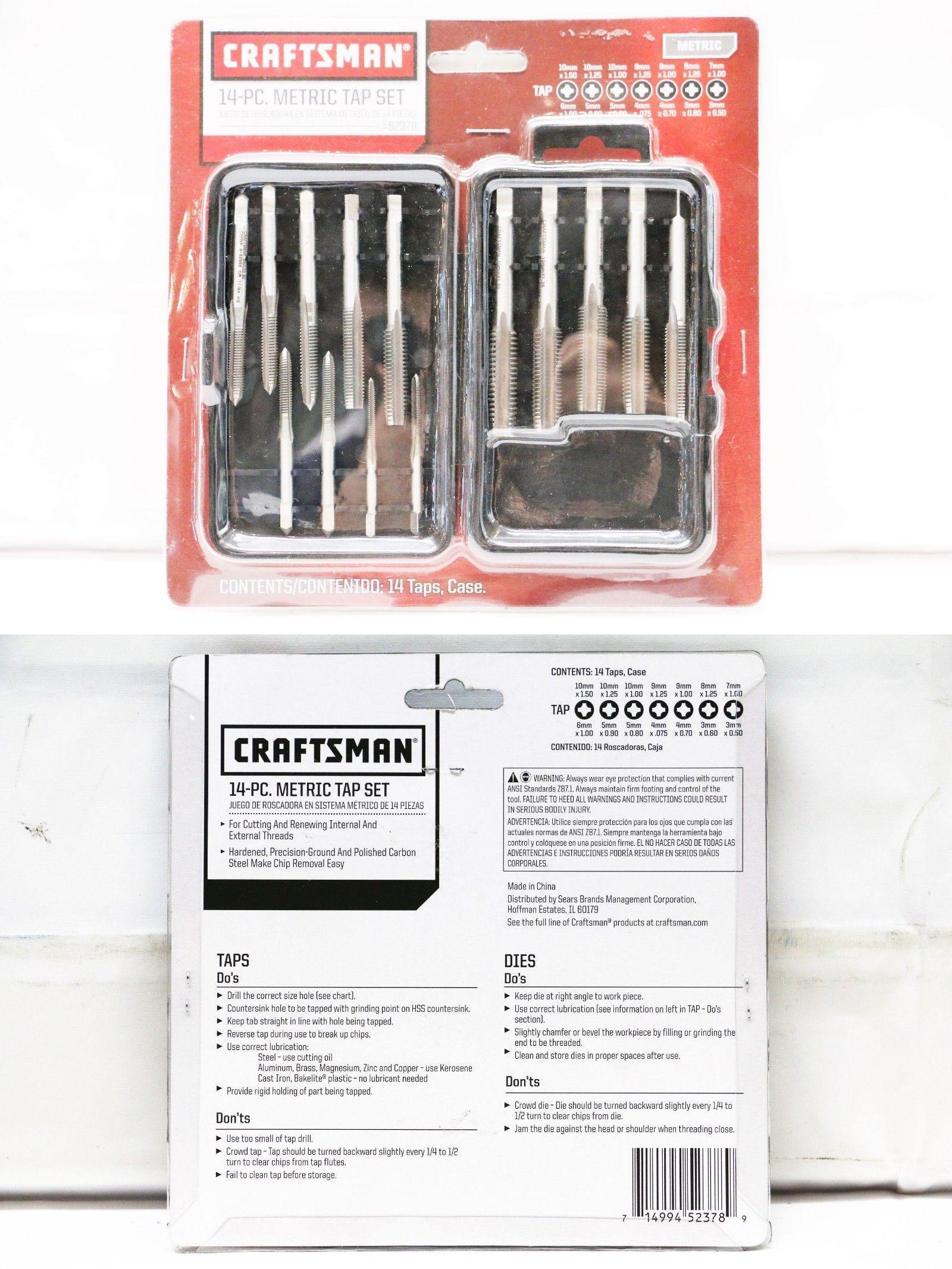 Craftsman piece metric tap set item no taps and dies