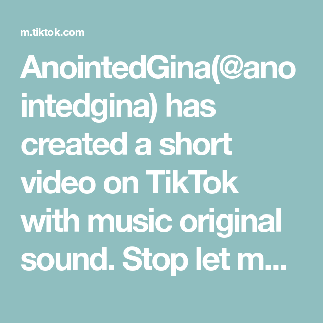 Anointedgina Anointedgina Has Created A Short Video On Tiktok With Music Original Sound Stop Let Me Pray For You The Originals Original Music Ariana Perfume