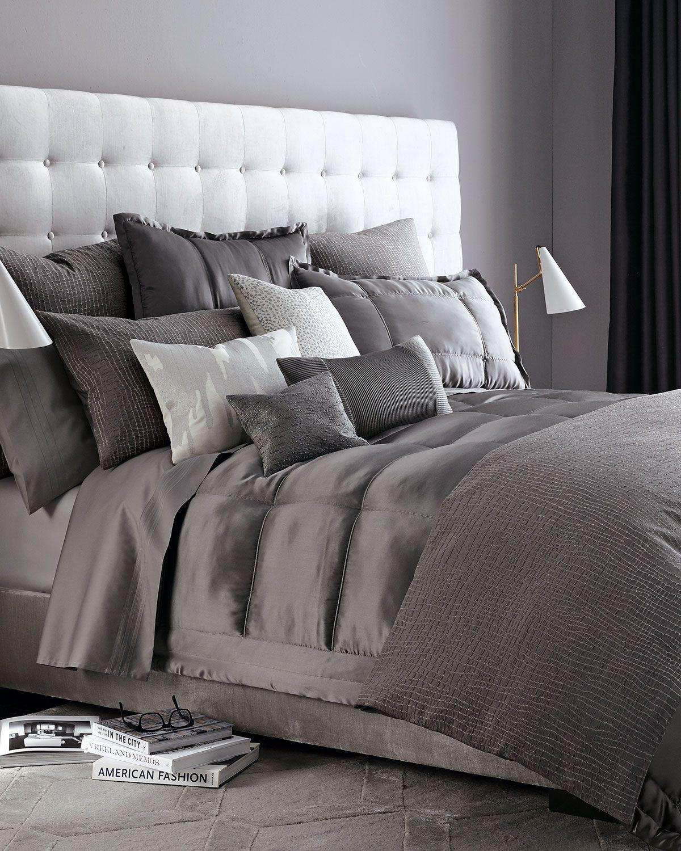 Reflection Standard Quilted Silk Sham Grey Bedroom Design Gray Bedroom Home Decor Bedroom