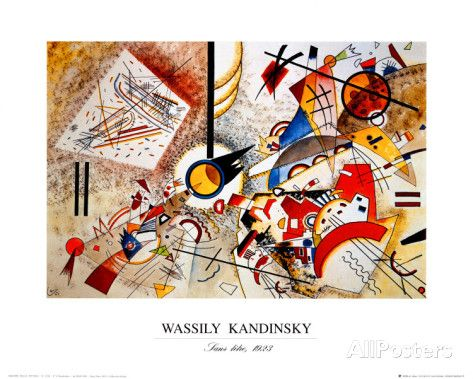 Bustling Aquarelle C 1923 Posters By Wassily Kandinsky