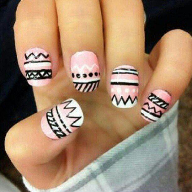 Fácil decorado para uñas!!! #mujer #moda #bellezaviral
