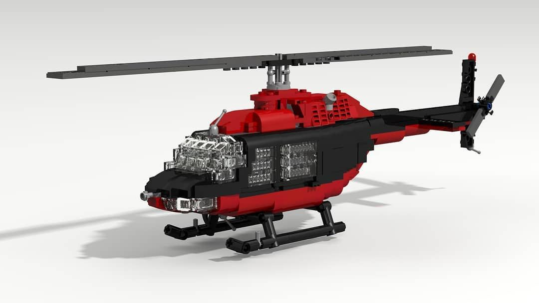 Bell 206B Jet Ranger Created by Lasse Deleuran Made in LDD
