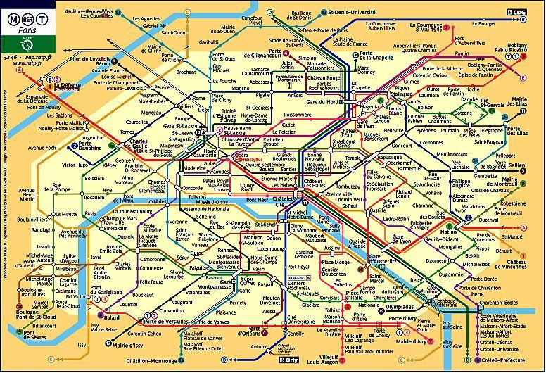 CARTE METRO + RER DE PARIS :: Toutsurtoutpourtous | Noël