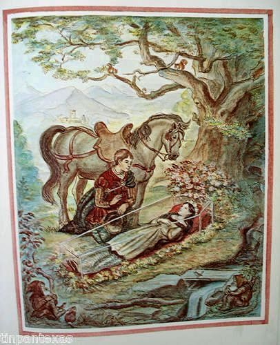 Snow White illustration from Tasha Tudor's Bedtime Book