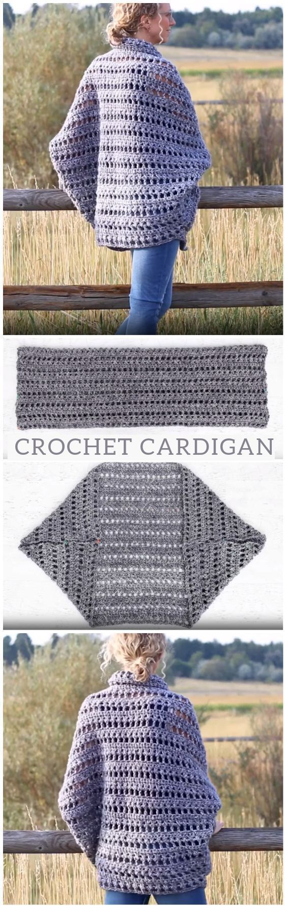 Photo of I want this in that big chunky soft wool.  How To Crochet Cardigan:separator:How…