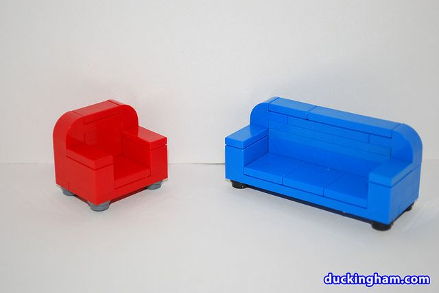 Lego Minifig Scale Couch And Chair Lego Legos Lego Worlds