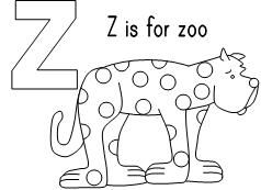 Put Me In The Zoo Coloring Sheet