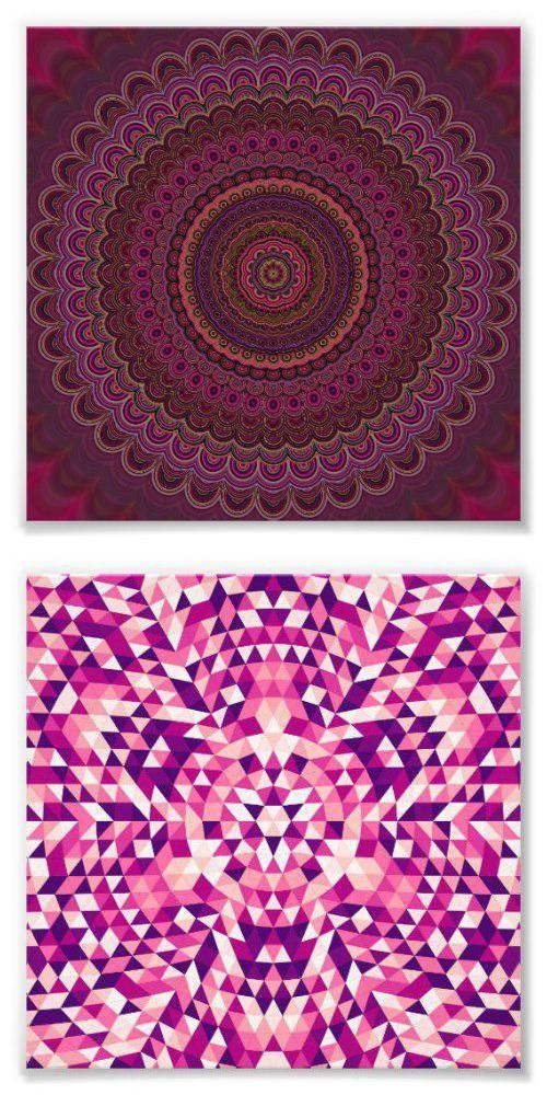 Mandala Art Print Collection - abstract bohemian geometric art
