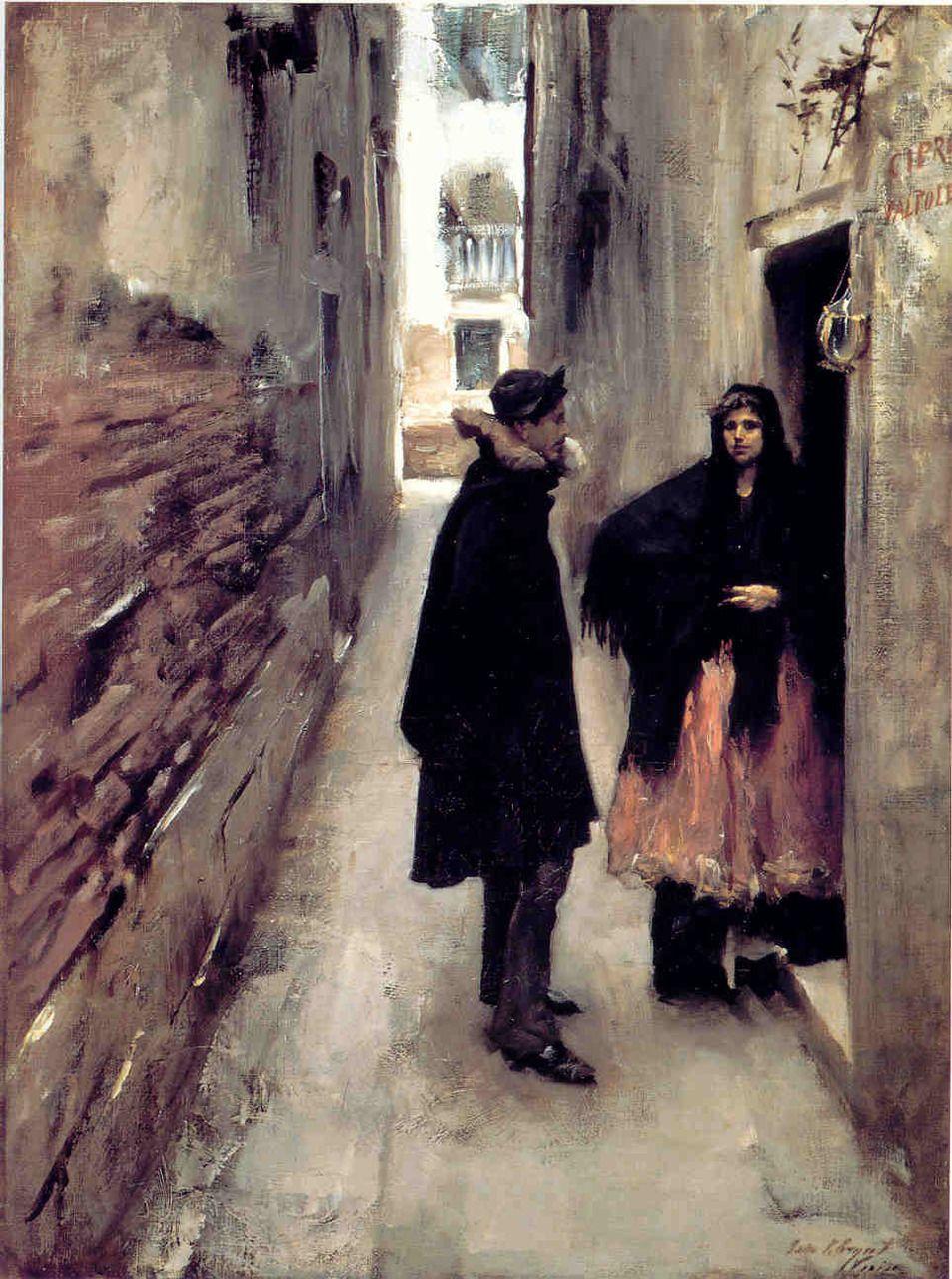 John Singer Sargent. A Street in Venice. c. 1880-1882.
