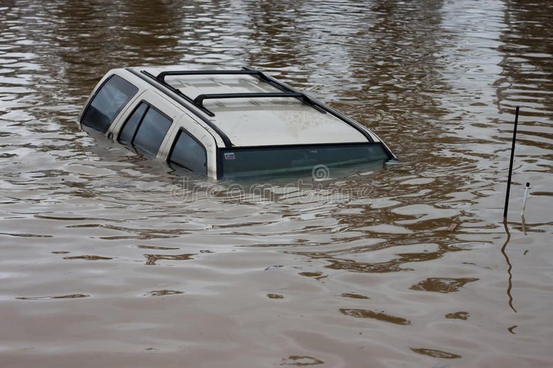 Flood Insurance Car Car Swamped In Flood Water Perfect For Motor