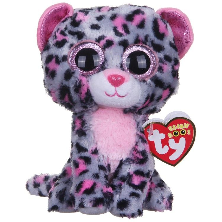 77fea7e6752 Ty Tasha Leopard Beanie Boos  ty  Tasha  leopard  beanieboos  tybeanie   tytasha  pinkgreyleopard  costumestoreandmore  trickortreathalloween