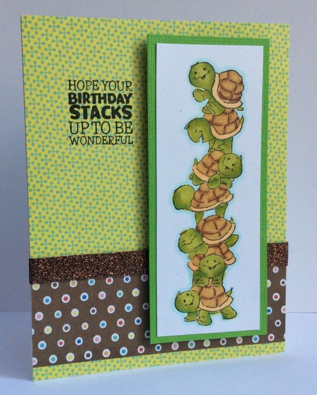 Art Impressions Rubber Stamps Ai Stacker Sliders 4741 Turtle – Interactive Birthday Cards