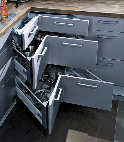 comment agrandir une petite cuisine ? | cuisine, meubles d'angle ... - Tiroir Angle Cuisine