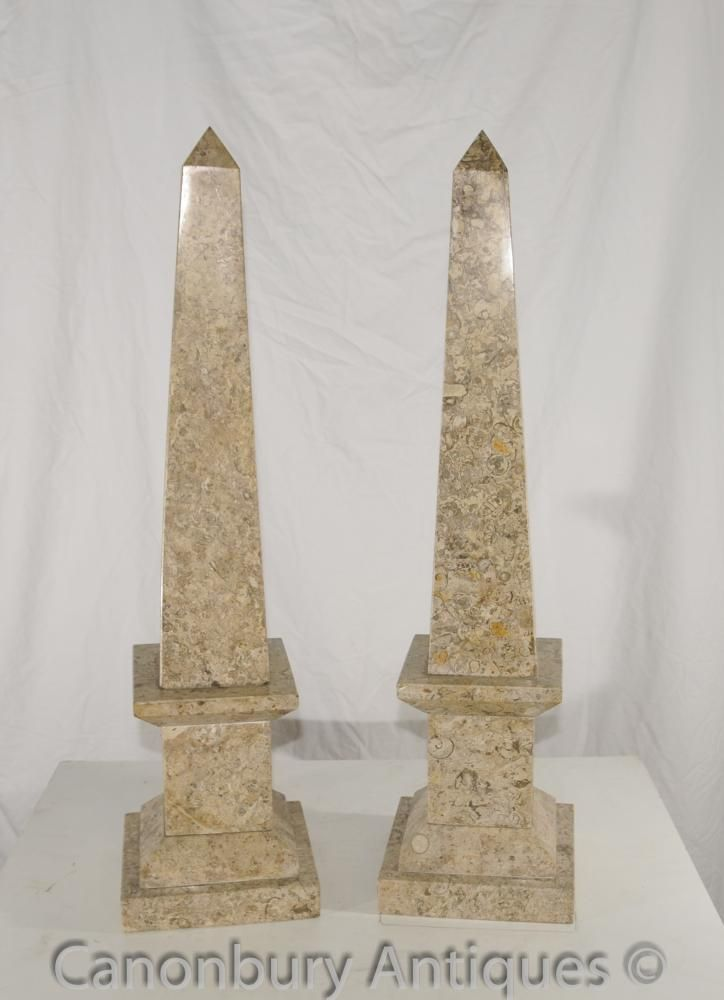Canonbury Pair French Empire Marble Obelisks Egyptian Obelisk French Empire Obelisk Empire