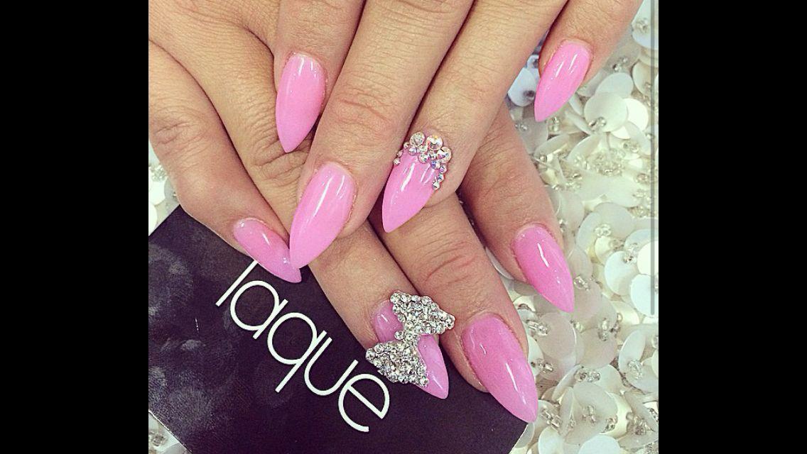 Pin by princess jasmyn on nails pinterest pink stiletto bow nails nails bow diy pink nails nail art diy ideas do it yourself diy nails nail designs stiletto nails solutioingenieria Gallery