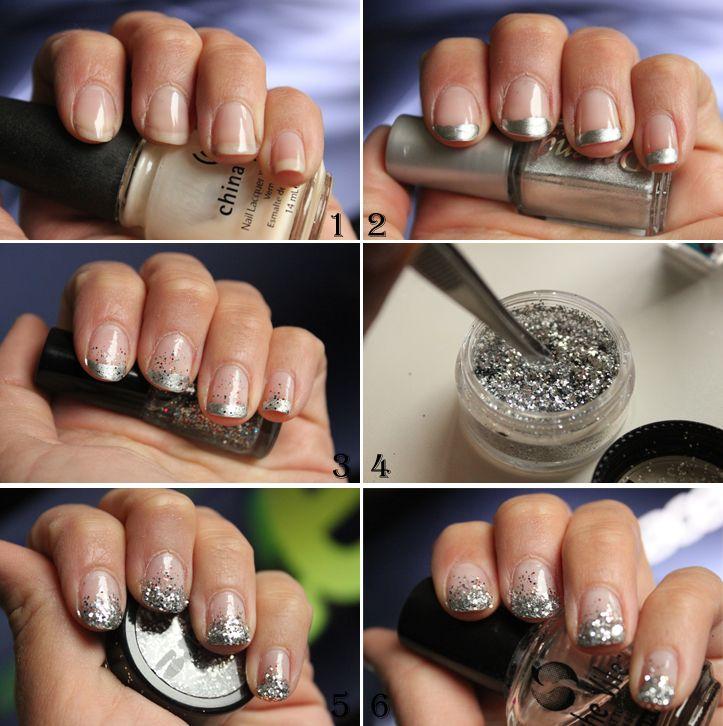 Tutorial - Glitter nails