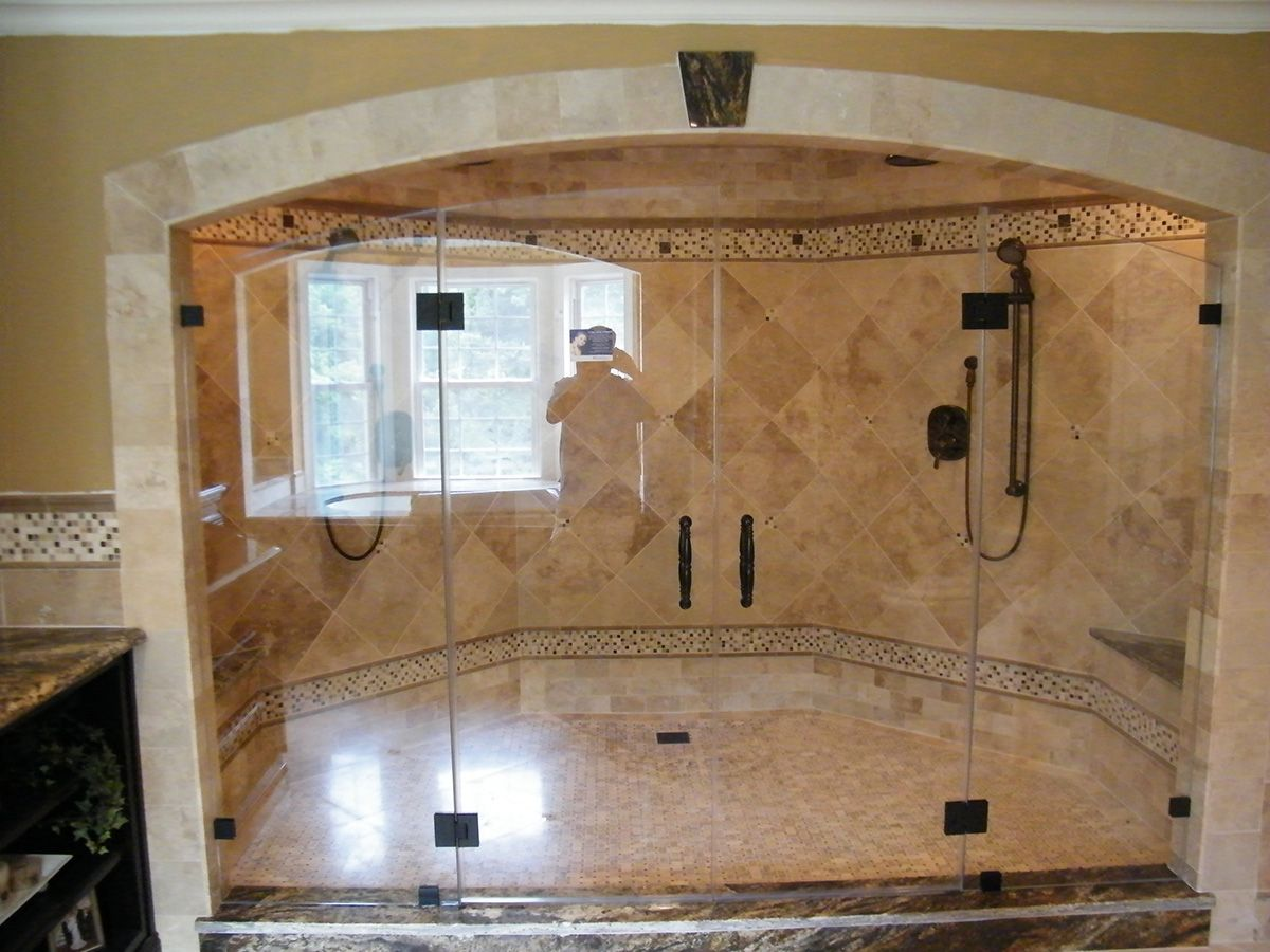Custom shower sizes showerman bathroom walkin showers for Custom bathrooms