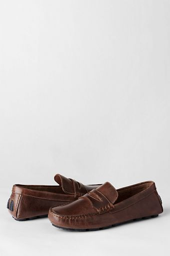 d3bba251bab Men s Driving Moccasin Shoes from Lands  End Fleet Footed
