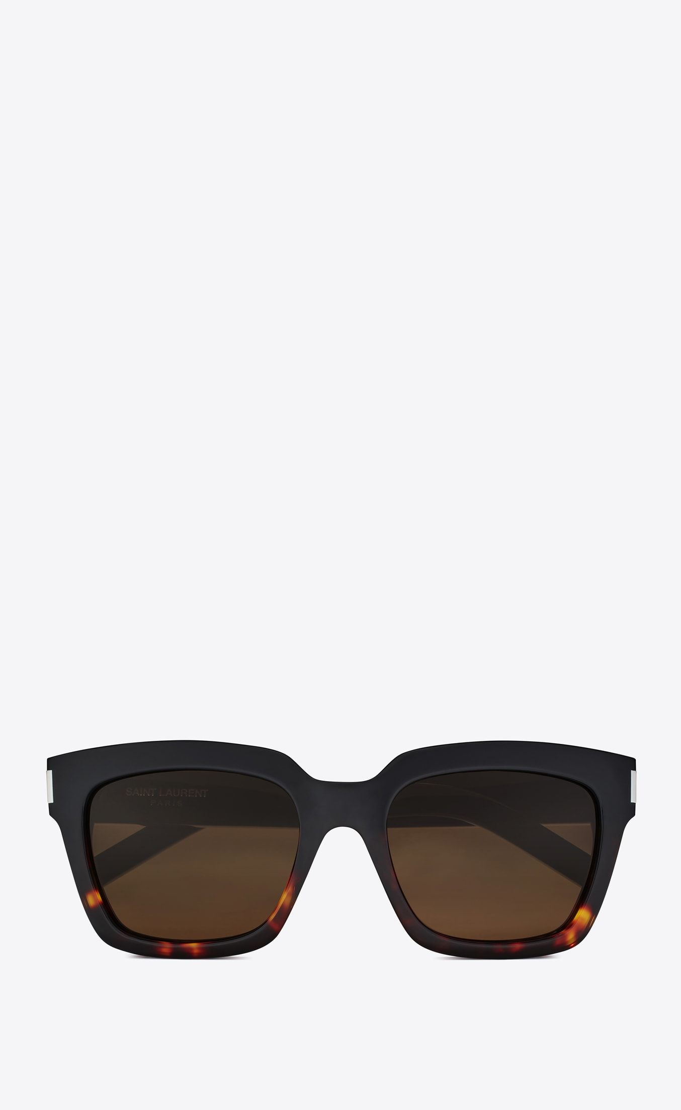 7c64c69beb Saint Laurent Bold 1 Sunglasses In Black And Havana Red Acetate Frames With  Smoked Lenses
