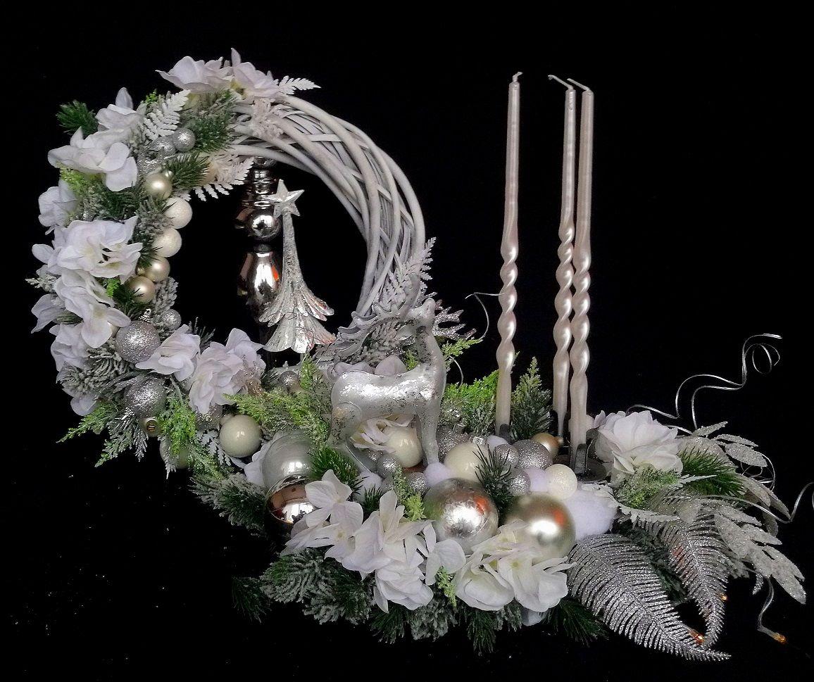 Christmas headdress and wreath, snow-covered set – Christmas At …