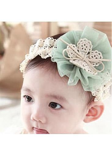Beautiful Baby Headband Lace Tulle DarkSeaGreen  321d4eb3c7d