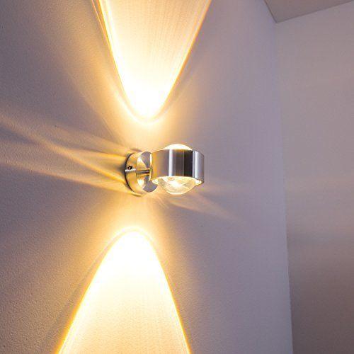 VINGO® 6W Wandlampe LED Flur Wandleuchten Aluminium Leuchte up down
