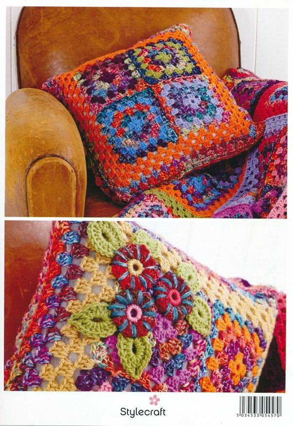 Granny Square Cushion Kit in Stylecraft Carnival Chunky & Special ...