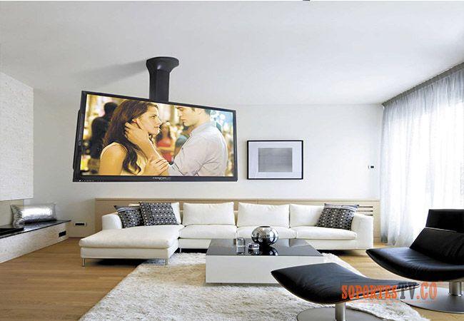Soporte de tv techo importado nansiones pinterest for Soporte para tele