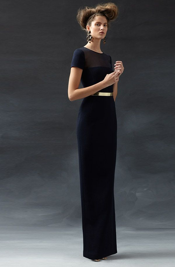 Ultimate Evening Gown By Oscar De La Renta Navy Fashionable Fetes